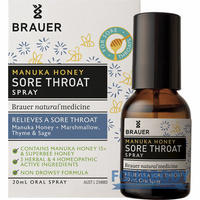 Brauer Manuka Honey Sore Throat Spray 20ml