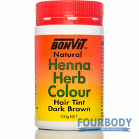 Bonvit Natural Henna Herb Colour Dark Brown 100g