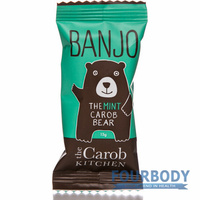 The Carob Kitchen Banjo The Carob Mint Bear 15g