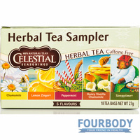 Celestial Tea Herbal Tea Sampler 18 tea bags