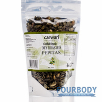 Carwari Organic Dry Roasted Pepitas 200g