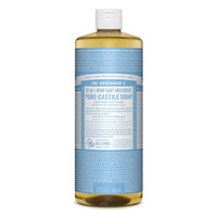 Dr Bronners Liquid Castile Soap Unscented 946ml