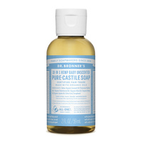 Dr Bronners Liquid Castile Soap Unscented 59ml