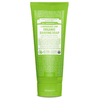 Dr Bronners Organic Shaving Soap Lemongrass Lime 208ml