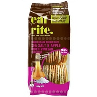 EatRite Brown Rice Crackers Sea Salt & ACV 100g