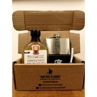 Hilbilby Stainless Steel Flask & Fire Tonic Gift Pack