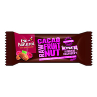 Go Natural Raw Cacao Almond Raspberry Bars 40g