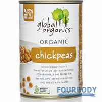 Global Organics Chick Peas Organic 400g