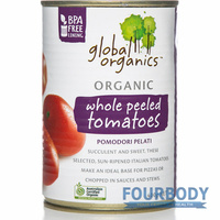 Global Organics Tomatoes Whole Peeled Organic 400g