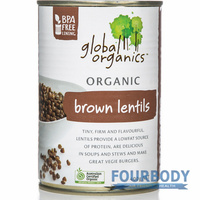 Global Organics Brown Lentils Organic 400g