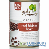 Global Organics Red Kidney Beans Organic 400g