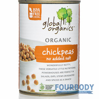Global Organics Chick Peas No Added Salt Organic 400g