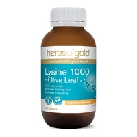 Herbs Of Gold Lysine 1000 + Olive Leaf 100 tabs