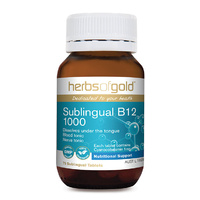 Herbs Of Gold Sublingual B12 1000 75 tabs