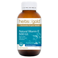 Herbs Of Gold Natural Vitamin E 500IU 200 caps