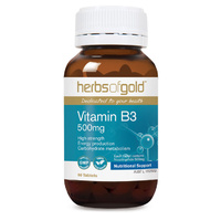 Herbs Of Gold Vitamin B3 500mg 60 tabs