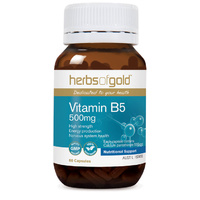 Herbs Of Gold Vitamin B5 500mg 60 vcaps
