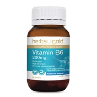 Herbs Of Gold Vitamin B6 200mg 60 tabs