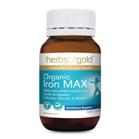Herbs Of Gold Organic Iron Max 30 vcaps