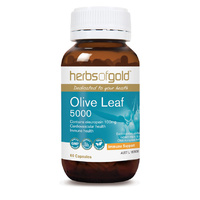 Herbs Of Gold Olive Leaf 5000 60 vcaps