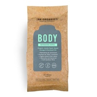Jak Organics Body Refreshing Wipes 25s