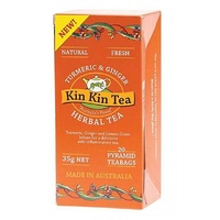 Kin Kin Tea Turmeric and Ginger Tea Bags 35g