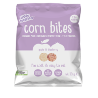 Little Bellies Corn Bites Apple + Blueberry 15g