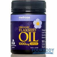 Melrose Organic Flaxseed Oil 1000mg 100 vcaps