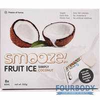 Smooze Fruit Ice Simply Coconut 8 x 65ml