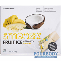 Smooze Fruit Ice Coconut & Banana 8 x 65ml