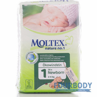 Moltex Nature Eco Nappy Newborn (2-4kg) 23s