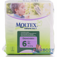 Moltex Nature Eco Nappy Junior XL (16-30kg) 22s