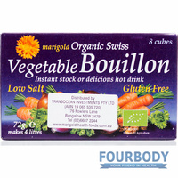 Marigold Health Foods Bouillon Cube Low Salt Purple (8 cubes) 72g