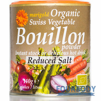 Marigold Health Foods Bouillon Org Reduced Salt Grey 140g