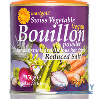 Marigold Health Foods Bouillon Reduced Salt Purple 150g
