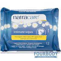 Natracare Feminine Intimate Wipes 12s