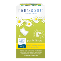 Natracare Panty Liners Long Wrapped 16s