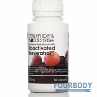 Natures Goodness Bioactivated Resveratrol 500mg 60 caps