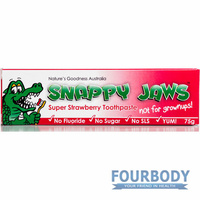 Natures Goodness Snappy Jaws Toothpaste Strawberry 75g