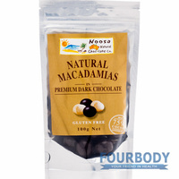 Noosa Natural Chocolate Co. Macadamias in Dark Choc 100g