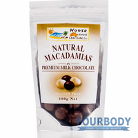Noosa Natural Chocolate Co. Macadamias in Milk Choc 100g