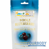 Noosa Natural Chocolate Co. Blueberries in Milk Choc 115g