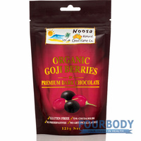 Noosa Natural Chocolate Co. Goji Berries in Dark Choc 125g
