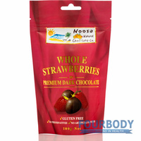 Noosa Natural Chocolate Co. Strawberries in Dark Choc 100g