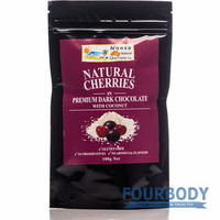 Noosa Natural Chocolate Co. Cherries Dark Choc Coconut 100g