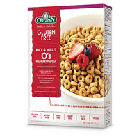 Orgran Gluten Free Rice & Millet O's Wildberry 300g