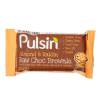 Pulsin' Almond & Raisin Raw Choc Brownie 50g