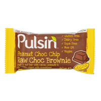Pulsin' Peanut Choc Chip Raw Choc Brownie 50g