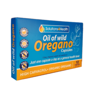 Solutions 4 Health Oil of Wild Oregano 12 vcaps