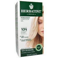 Herbatint 10N Platinum Blonde Permanent Herbal Haircolour Gel CLEARANCE